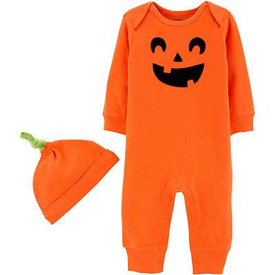 Baby Carter's Jack-O-Lantern Jumpsuit & Hat Set