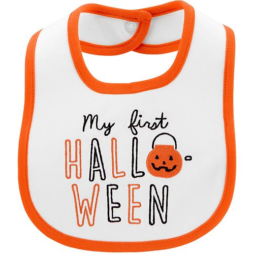 Baby Carter's First Halloween Teething Bib