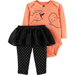 Baby Girl Carter's Halloween Bodysuit & Tutu Pant Set