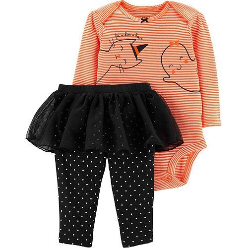 Baby Girl Carter's Halloween Bodysuit & Tutu Pant Set