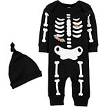 Baby Boy Carter's Glow Skeleton Jumpsuit & Hat Set