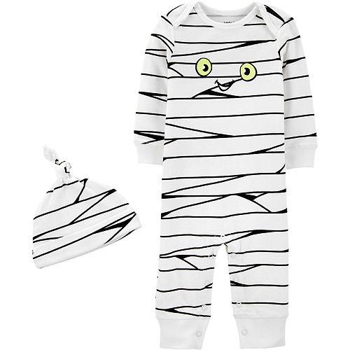 Baby Carter's Glow Mummy Jumpsuit & Hat Set