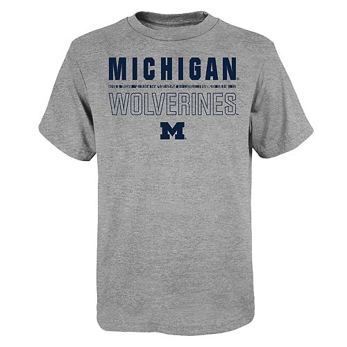 "Boy's 4-20 NCAA Michigan Wolverines ""Launch"" Short Sleeve Tee"