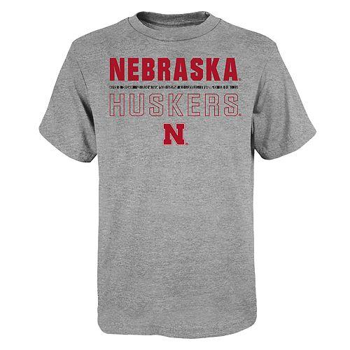 "Boy's 4-20 NCAA Nebraska Cornhuskers ""Launch"" Short Sleeve Tee"