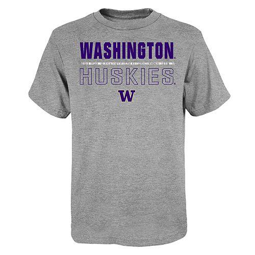 """Boy's 4-20 NCAA Washington Huskies """"Launch"""" Short Sleeve Tee"""