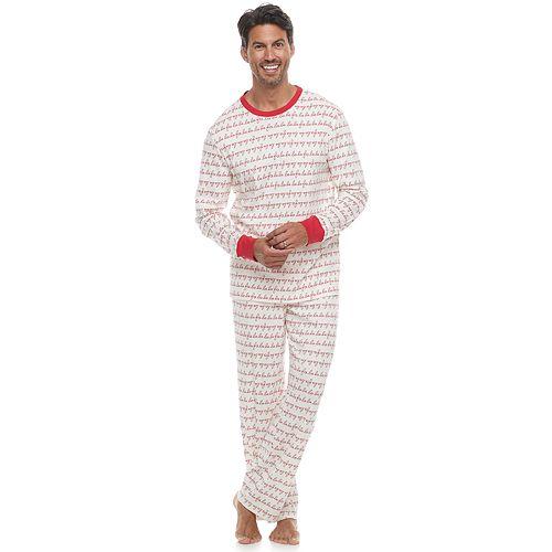 Men's LC Lauren Conrad Jammies For Your Families Fa La La Top & Bottoms Pajama Set