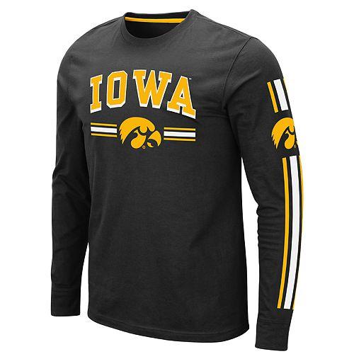 Men's NCAA Iowa Hawkeyes Pikes Peak Long Sleeve Tee