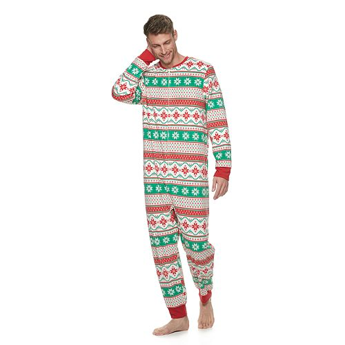 "Men's Jammies For Your Families ""We Jingled"" Microfleece One-Piece Pajamas"