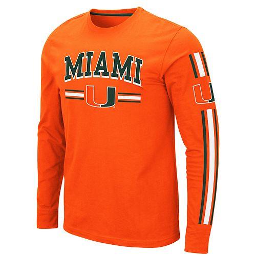 Men's NCAA University of Miami Long Sleeve Tee