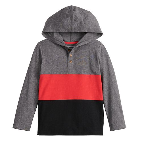 Boys 4-12 SONOMA Goods for Life™ Color Blocked Hoodie Henley