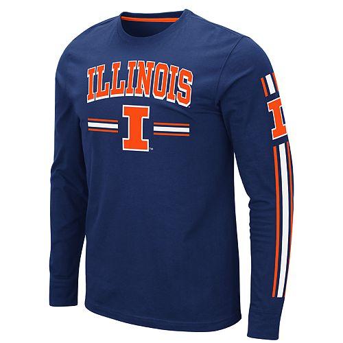 Men's NCAA Illinois Fighting Illini Pikes Peak Long Sleeve Tee