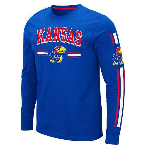 Men's NCAA Kansas Jayhawks Pikes Peak Long Sleeve Tee