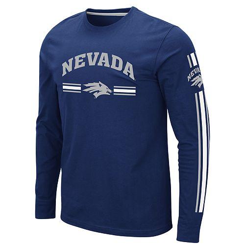 Men's NCAA Nevada Wolf Pack Pikes Peak Long Sleeve Tee