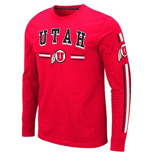 Men's NCAA Utah Utes Pikes Peak Long Sleeve Tee