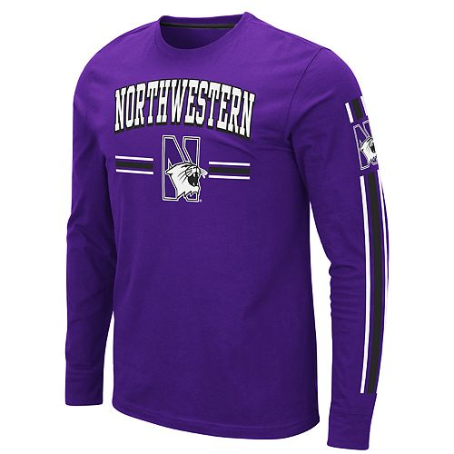 Men's NCAA Northwestern Wildcats Long Sleeve Tee