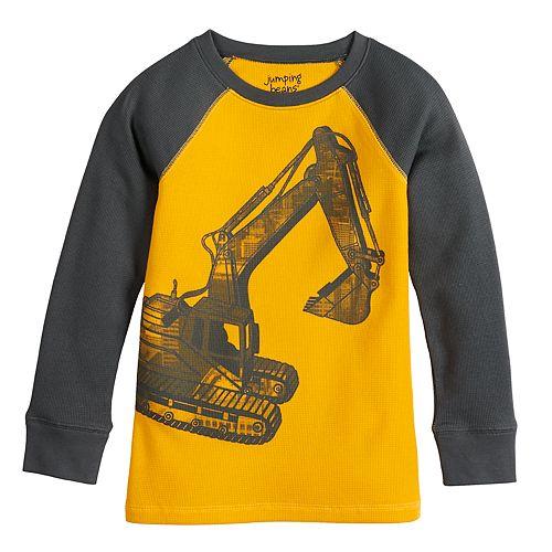 Boys 4-12 Jumping Beans Raglan Thermal Excavator Graphic Tee
