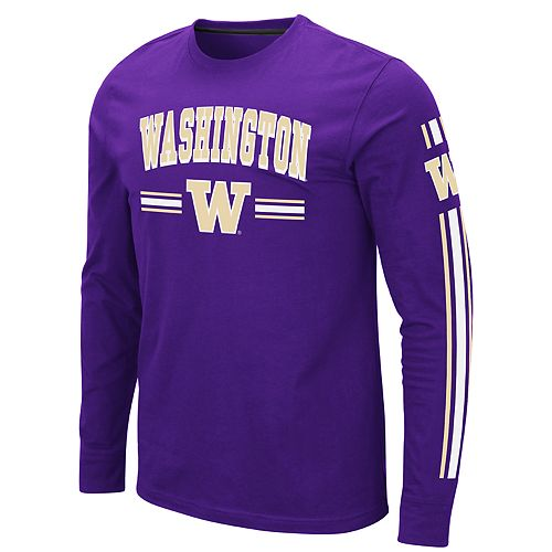 Men's NCAA Washington Huskies Long Sleeve Tee