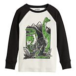 Boys 4-12 Jumping Beans® Raglan Thermal Dinosaur Graphic Tee