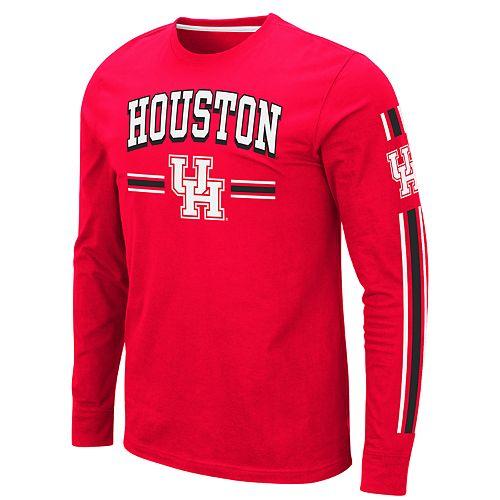 Men's NCAA Pikes Peak University of Houston Long Sleeve Tee