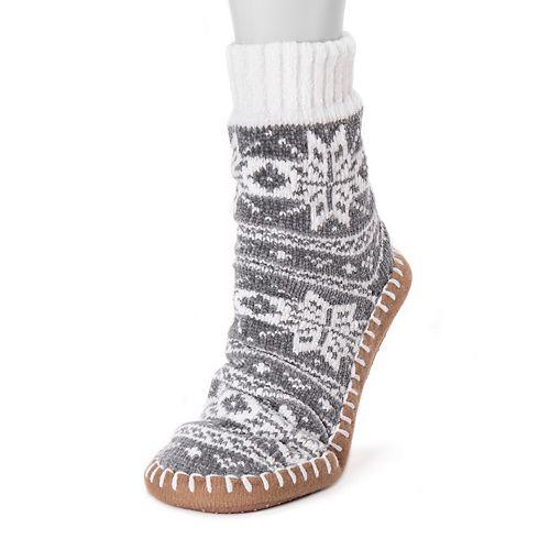 Women's MUK LUKS® Chenille Short Slipper Socks