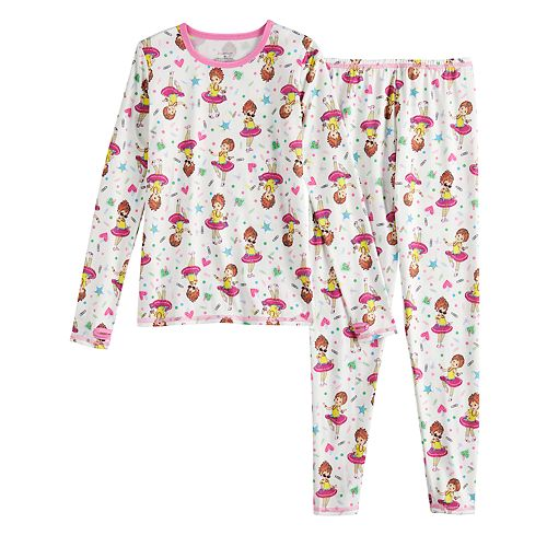 Girls 4-8 Cuddl Duds® Fancy Nancy 2-Pc. Base Layer Set