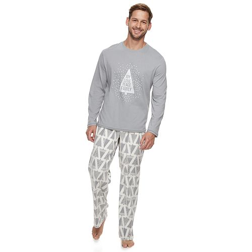 Men's Jammies For Your Families Joy Love Peace Family Tee & Pants Pajama Set