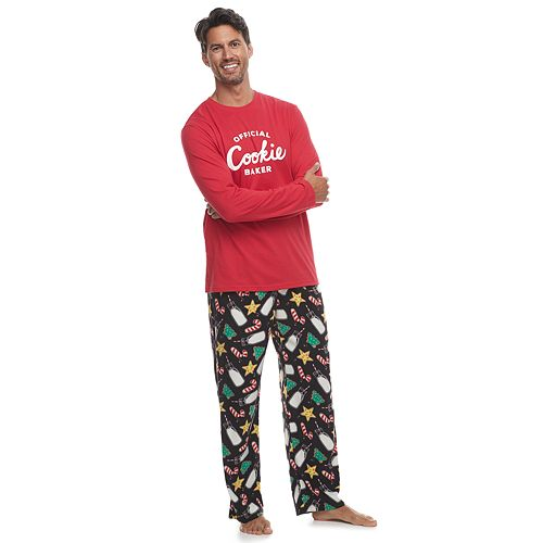 Men's Jammies For Your Families Milk & Cookies Family Tee & Pants Pajama Set