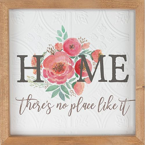 Floral Home No Place Like It Wall Decor