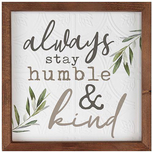 Humble & Kind Wall Decor