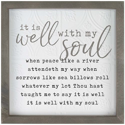 Well With My Soul Wall Decor