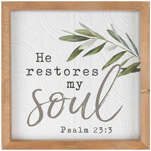 Restores My Soul Wall Decor