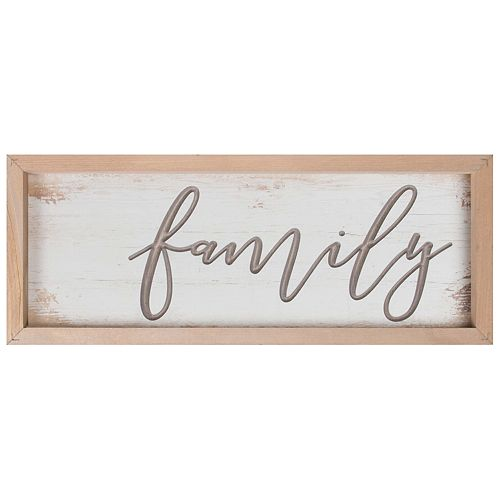 Family Distressed Wall Decor