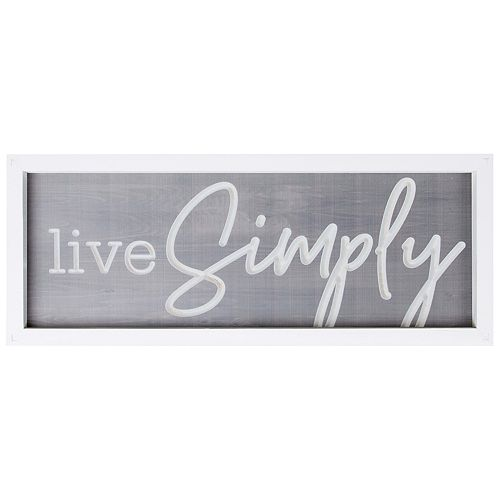 Live Simply Wall Decor