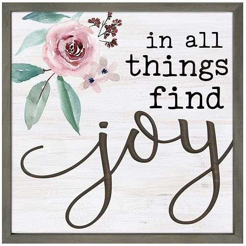 In All Things Find Joy Wall Decor