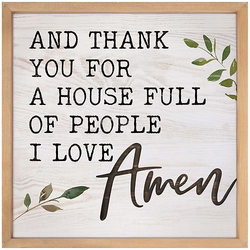 House Full People I Love Wall Decor