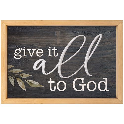 All To God Wall Decor