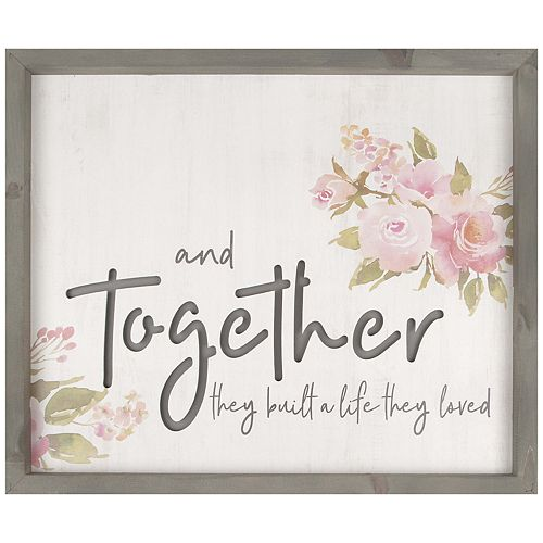 Together Life They Loved Wall Decor