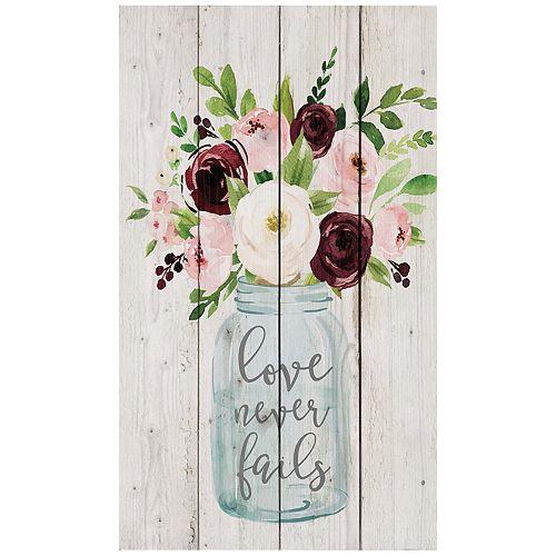 Love Never Fails Floral Wall Decor
