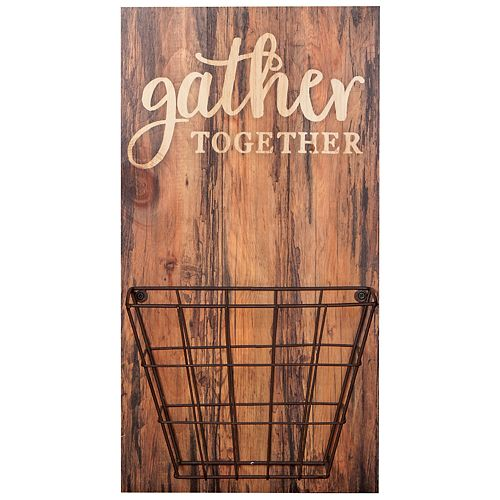 Gather Together Wall Decor & Basket