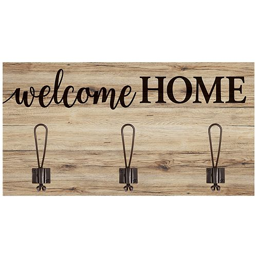 Welcome Home 3-Hook Wall Decor