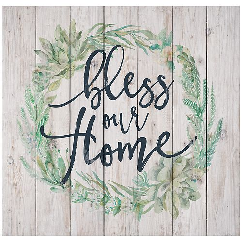 Bless Our Home Wreath Wall Decor