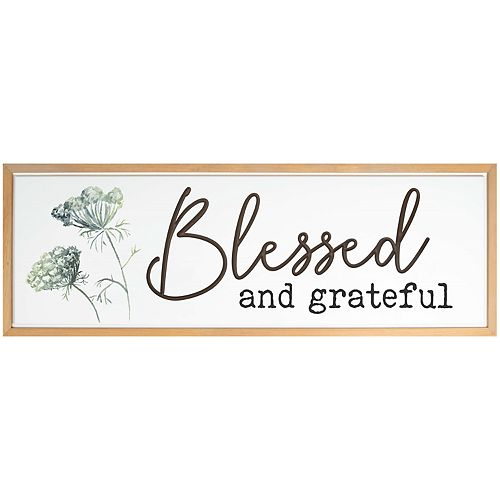 Blessed Grateful Wall Decor