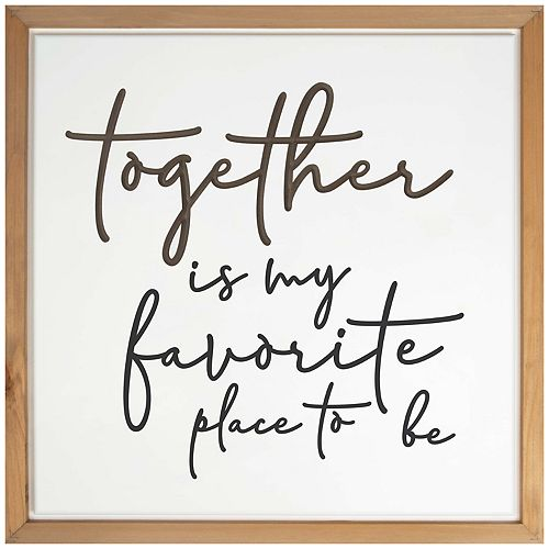 Together Favorite Place Wall Decor