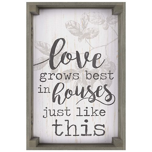 Love Grows Best Wall Decor