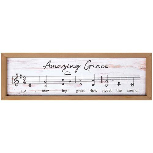 Amazing Grace Music Wall Decor