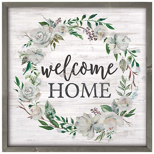 Welcome Home Wreath Wall Decor