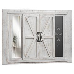 Crystal Art Gallery Barn Door 5-Opening Frame & Chalkboard Wall Decor