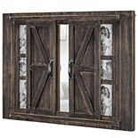 Crystal Art Gallery Barn Door 6-Opening Frame & Mirror Wall Decor