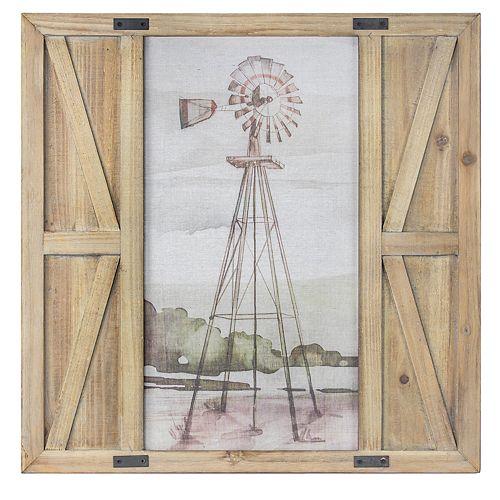 Crystal Art Gallery Windmill Barn Door Framed Wall Decor