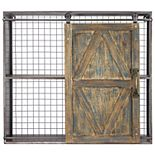 Crystal Art Gallery Distressed Sliding Barn Door Cabinet Wall Decor